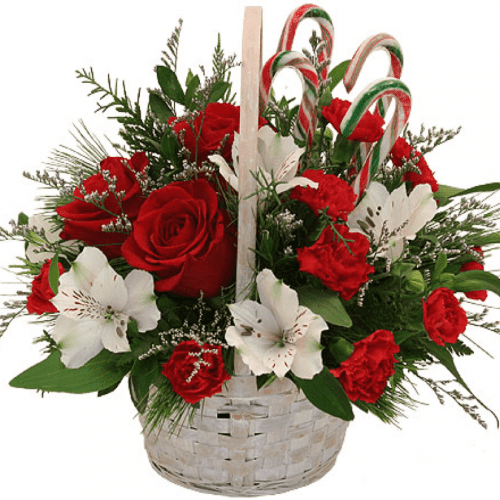 Image of the Holiday Treasures floral arrangement