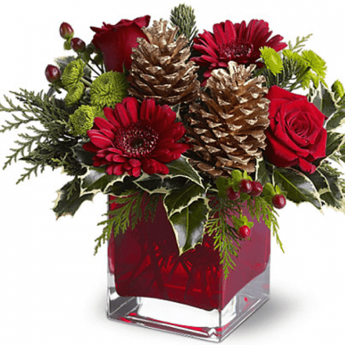 Image of the Holiday Wishes floral arrangement