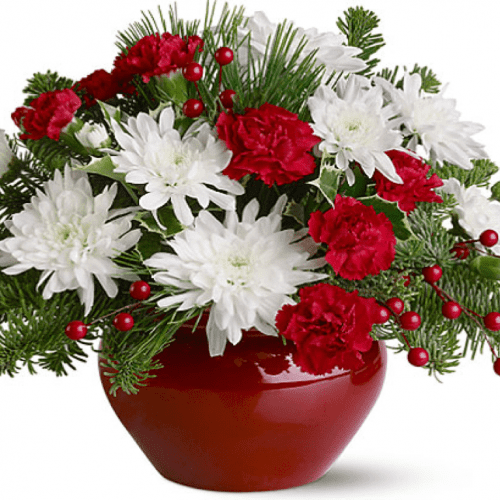 Image of the Holly Jolly floral arrangement