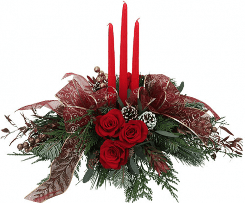 Image of the Tis the Season floral centerpiece