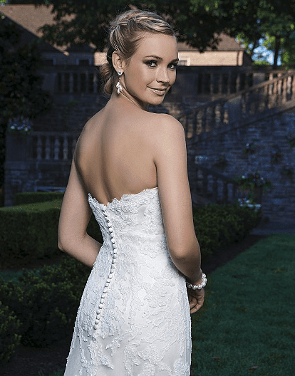 Lace and Tulle Fit and Flare Gown with Sweetheart Neckline