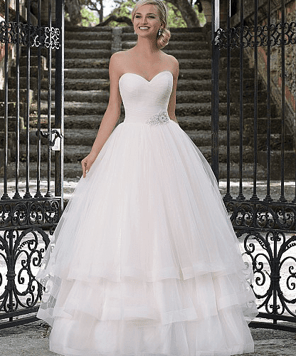 Ruched Tulle Ball Gown with Sweetheart Neckline