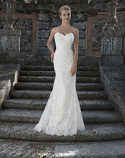 Chantilly Lace A-line Gown with Detachable Lace Wrap