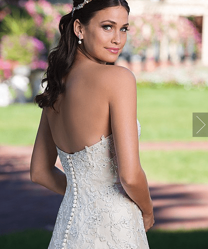 Sweetheart A-Line Gown with Beaded Lace