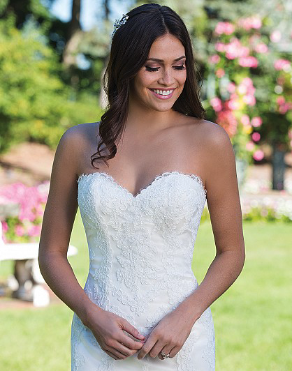 Tulle and Lace Fit and Flare with Sweetheart Neckline