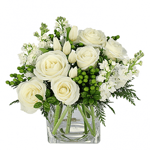 Image of the Arctic Cheer floral arrangement