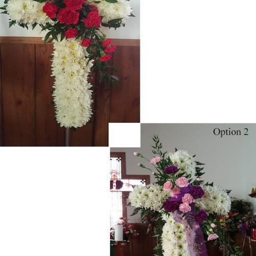Image of the Compassionate Cross Floral Arrangement