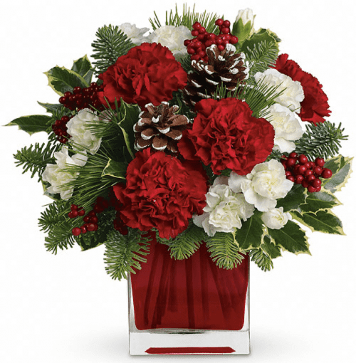 Image of the Happy Holidays floral arrangement