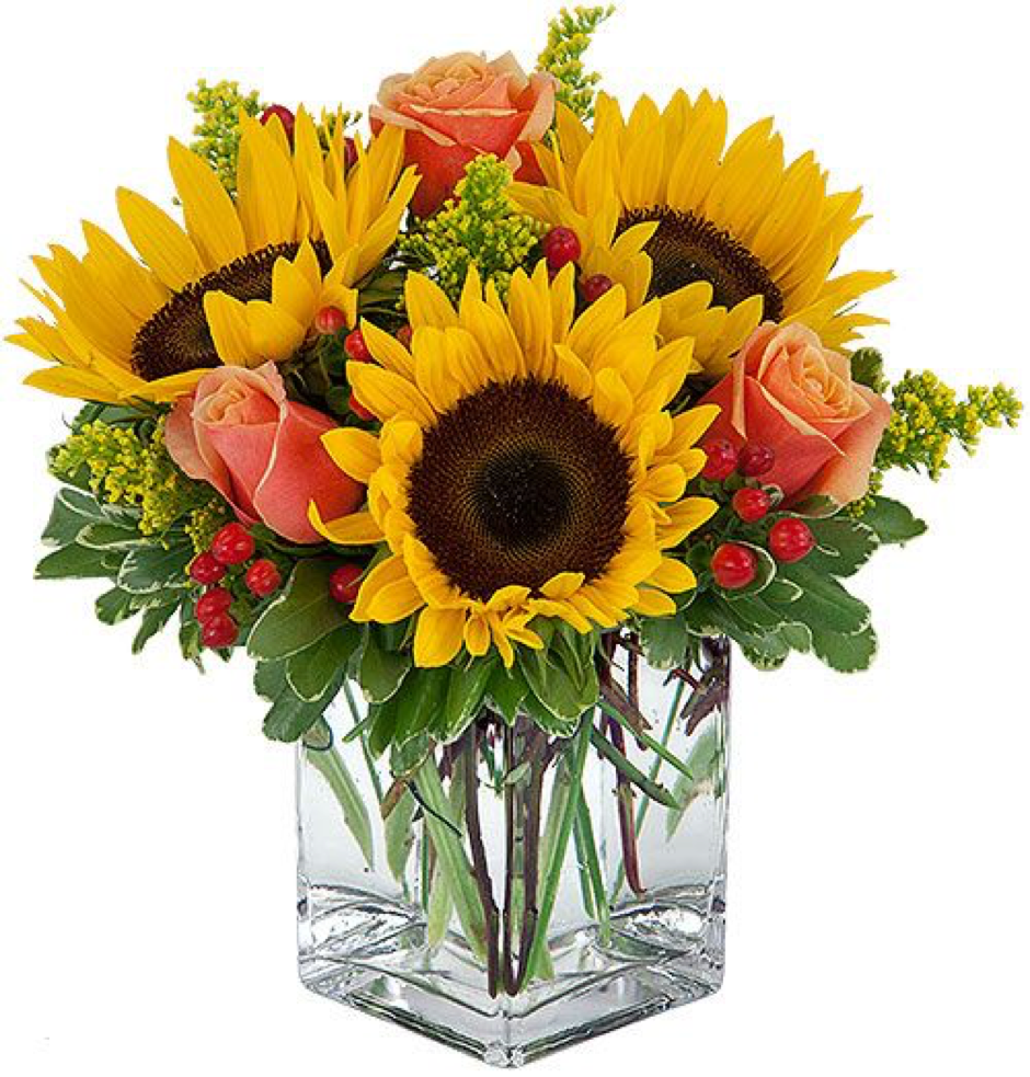 Image of the Season of Sunflowers fall floral arrangement
