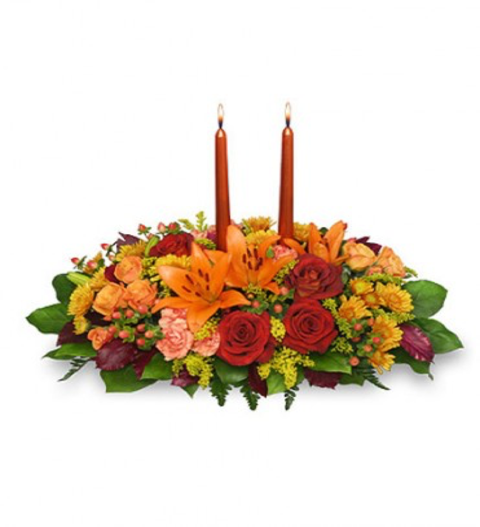 Image of the Thanks Giving Feast floral centerpiece
