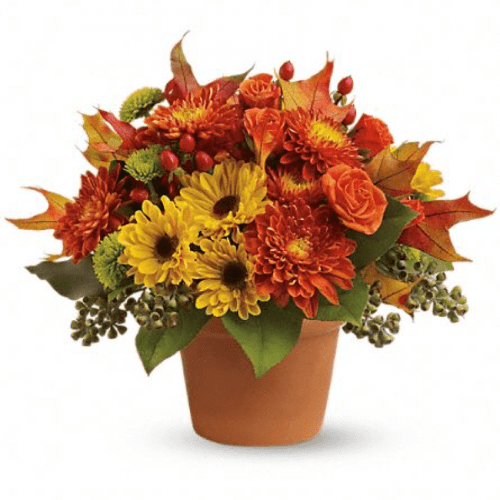 Image of the Viking Victory fall floral arrangement