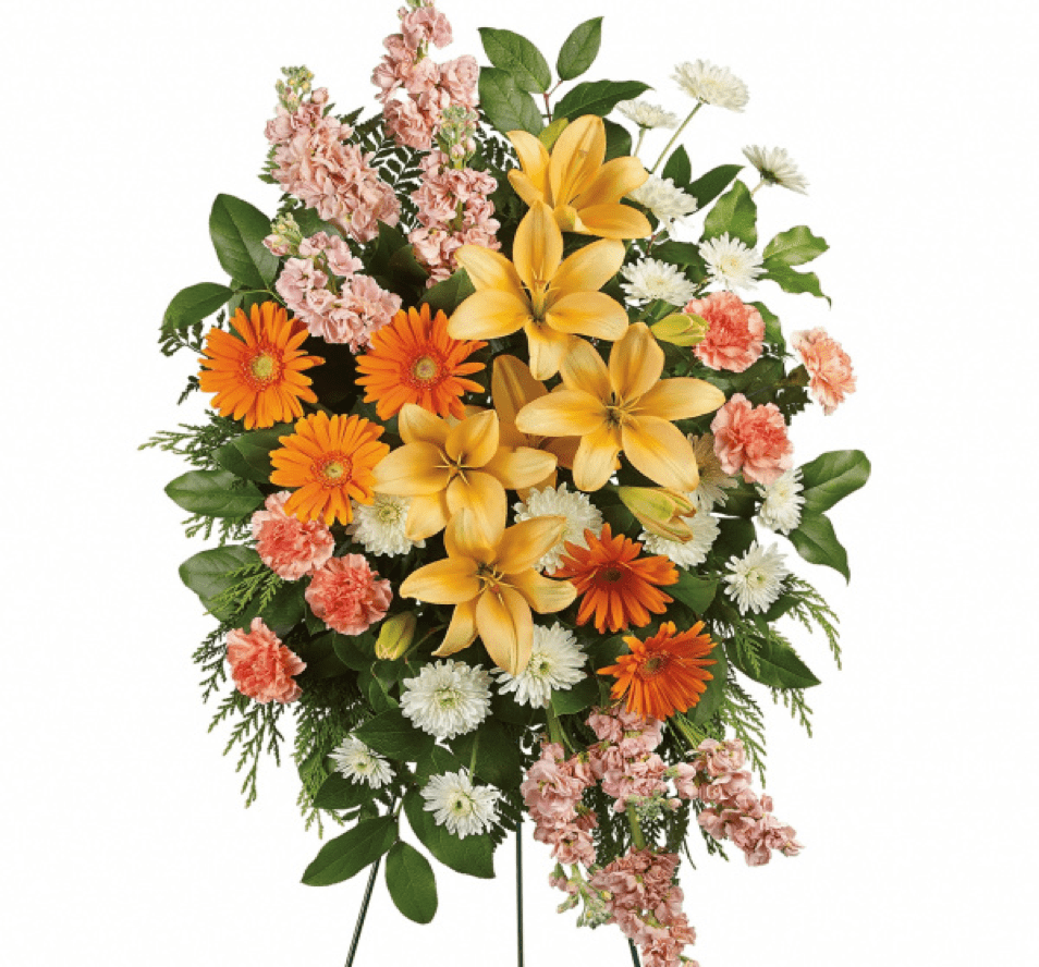 Image of the Peaceful Peach floral arrangement